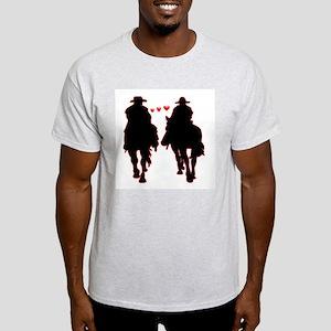 Brokeback Buddies Ash Grey T-Shirt