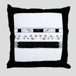 High Fashion T-shirts Throw Pillow