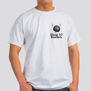 Hang 10 Bowlers Logo 1 Light T-Shirt Design Front