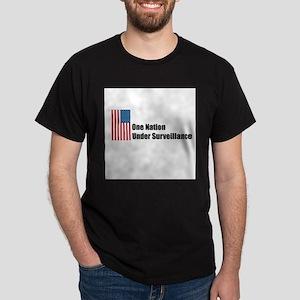One Nation Under Surveillance Black T-Shirt