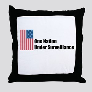 One Nation Under Surveillance Throw Pillow