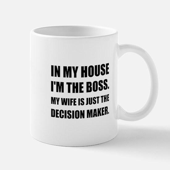 Boss Wife Decision Maker Mugs