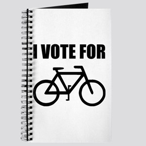 I Vote For Bicycle Journal