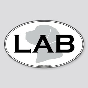 LAB Oval Sticker