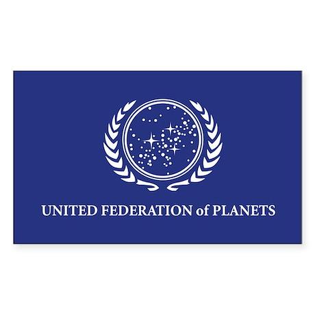 Star Trek Flag Sticker (Rectangle)