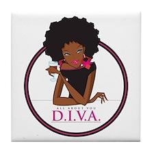 Diva Logo Tile Coaster (set Of Four)