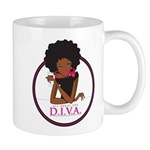 Diva Logo 11 Oz Ceramic Mug Mugs