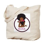 Diva Logo Canvas Tote Bag
