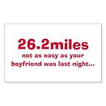 """26.2miles"" Rectangle Sticker"