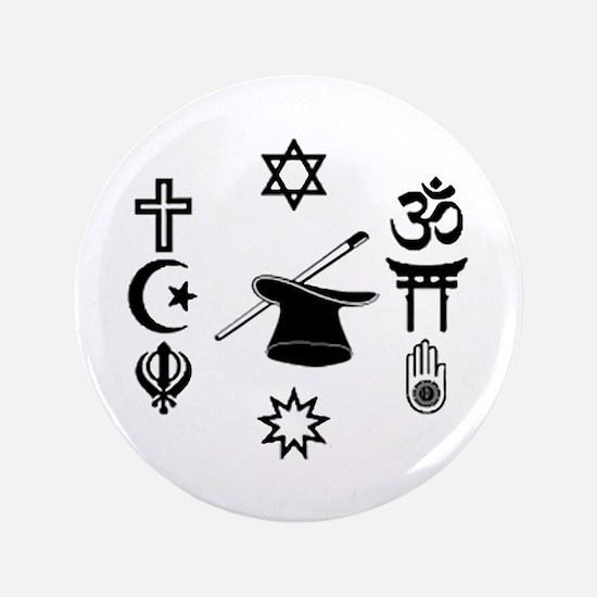 """multifaith button A@L 4.66"""" Button"""