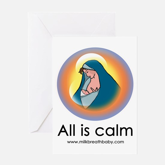 All Is Calm Greeting Card