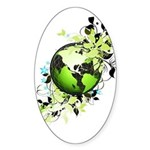 Live Green Sticker (Oval)