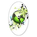 Live Green Sticker (Oval)