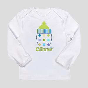 Polka Dot Bottle Long Sleeve Infant T-Shirt