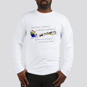 Doggy Claus & Kitty Reindeer Long Sleeve T-Shirt