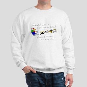 Doggy Claus & Kitty Reindeer Sweatshirt