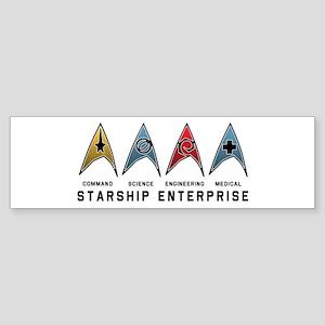 Starfleet Emblems Sticker (Bumper)