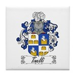 Tinelli Coat of Arms Tile Coaster