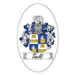 Tinelli Coat of Arms Oval Sticker