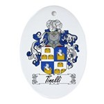 Tinelli Coat of Arms Oval Ornament