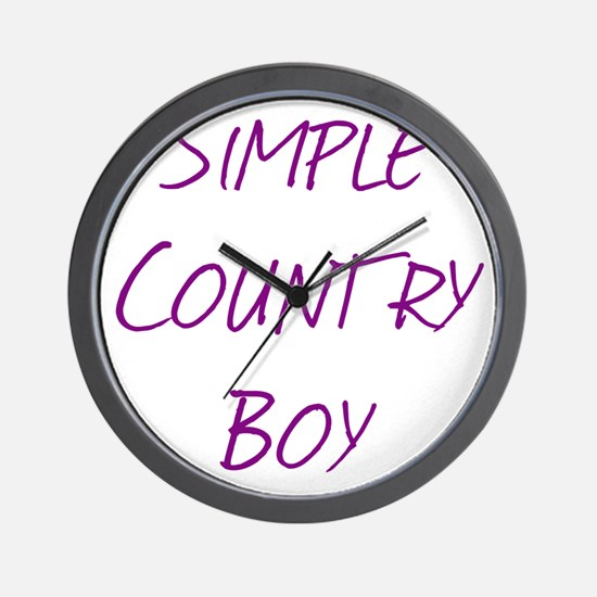 Simple Country Boy Wall Clock