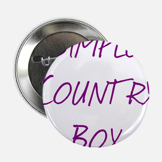 "Simple Country Boy 2.25"" Button"