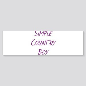 Simple Country Boy Sticker (Bumper)