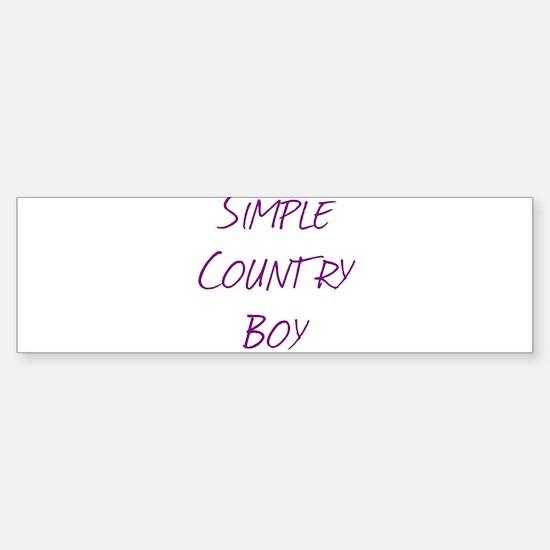 Simple Country Boy Sticker (Bumper)