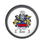 Tessini Coat of Arms Wall Clock