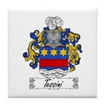 Tessini Coat of Arms Tile Coaster