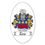 Tessini Coat of Arms Oval Sticker