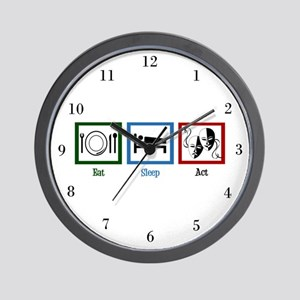 Eat Sleep Act Wall Clock