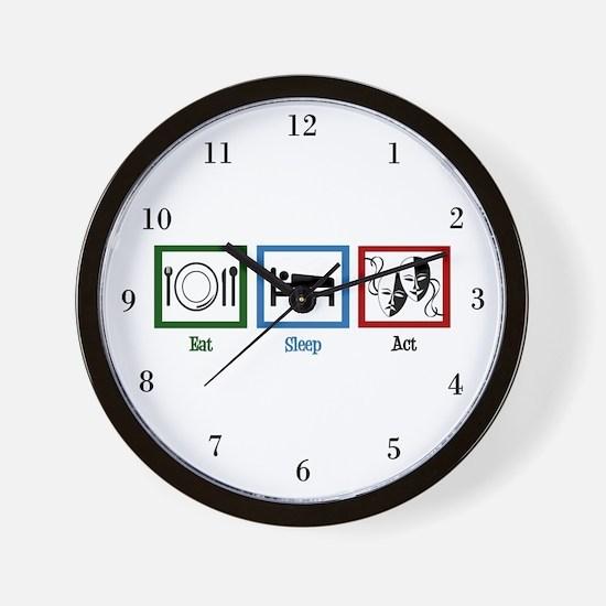 Eat Sleep Act Wall Clock