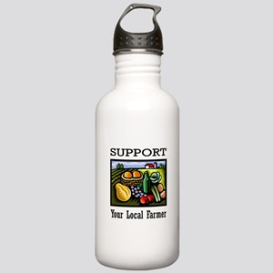 Support Your Local Farmer Stainless Water Bottle 1