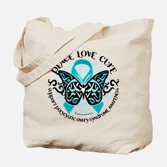PCOS Tribal Butterfly Tote Bag