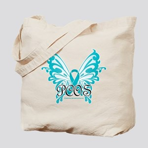 PCOS Butterfly & Ribbon Tote Bag
