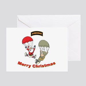 Santa & Soldier Airborne Greeting Card