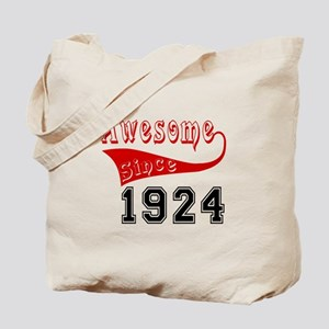 Awesome Since 1924 Birthday Designs Tote Bag