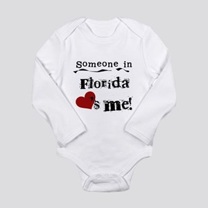 Someone in Florida Long Sleeve Infant Bodysuit