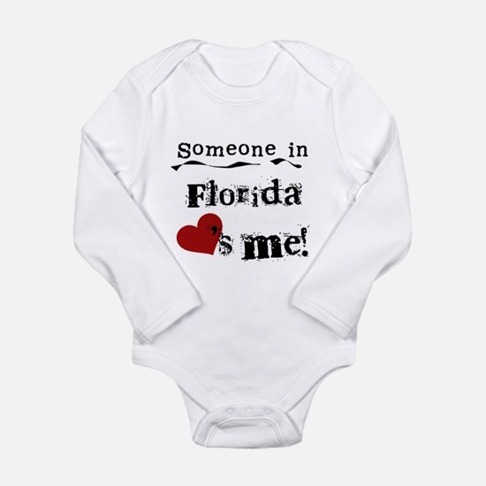 Florida baby clothes cafepress someone in florida long sleeve infant bodysuit negle Image collections