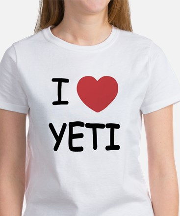 I heart yeti Women's T-Shirt