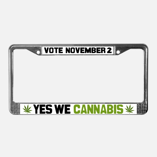 Cannabis License Plate Frame