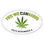Cannabis Sticker (Oval 10 pk)