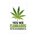 Cannabis Sticker (Rectangle 10 pk)