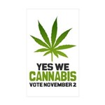 Cannabis Sticker (Rectangle 50 pk)