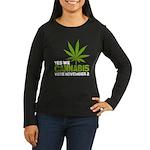 Cannabis Women's Long Sleeve Dark T-Shirt