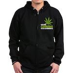 Cannabis Zip Hoodie (dark)