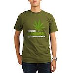 Cannabis Organic Men's T-Shirt (dark)