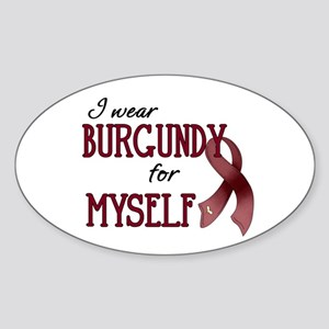 Wear Burgundy - Myself Sticker (Oval)