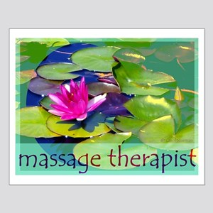 Massage Therapist / Waterlily Small Poster